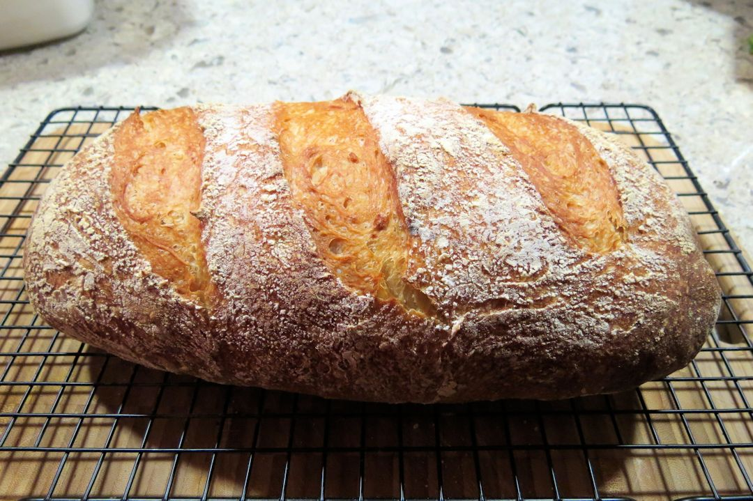 French loaf showing crumb
