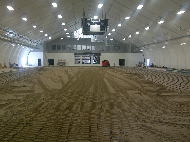 Inside our new arena