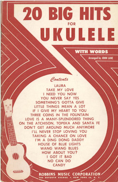 20 Big Hits for the Ukulele