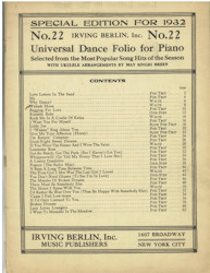 Irving Berlin Songbook, 1932