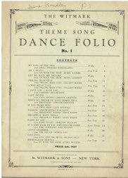 Witmark Dance Folio No. 1