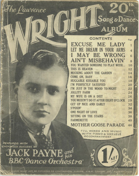 1929 Wright Song & Dance Album